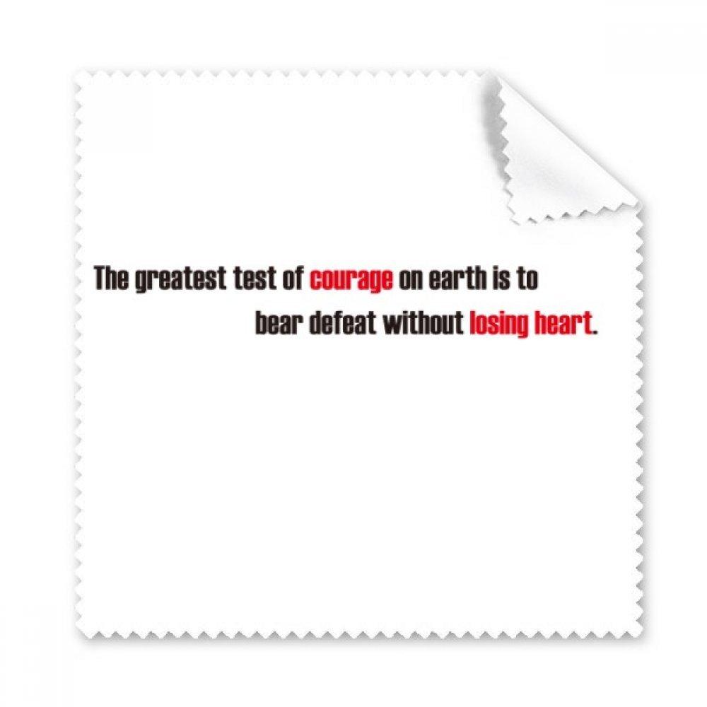 Slogan 最高の試験 地上での勇気 は心臓を失うことなく敗北する メガネクロス クリーニングクロス ギフト 電話スクリーンクリーナー 5個   B072KR18FP