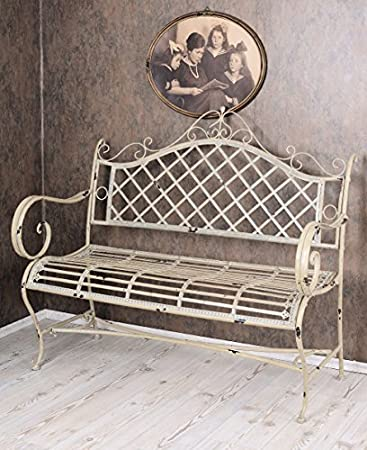 Sitzbank Für Den Garten vintage gartenbank shabby chic bank weiss sitzbank garten amazon de
