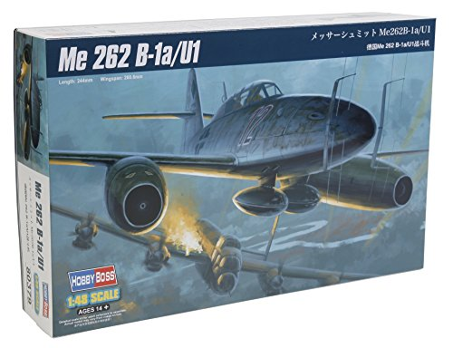 "Hobbyboss 80379 ""Me 262 B-1a/U1 Plastic Model Kit, 1:48 Scale"