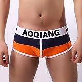Men's Hot Underwear Boxershorts Underpants Briefs Panties Knickers Orange
