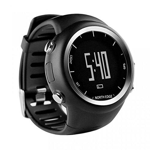 Inteligente al Aire Libre Deportes Reloj Bluetooth Podómetro North Edge GPS Track Podómetro Reloj Digital Impermeable Reloj Monitor de Ritmo Cardíaco Smart ...