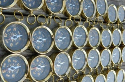 のセット1000個Nautical Maritimeヴィンテージスタイル真鍮ポケットコンパスキーチェーンハイキングナビゲーションコンパス B073XMXD25