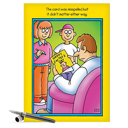 J0353 Jumbo Funny Father's Day Card: Fters Day With Envelope (Extra Large Version: 8.5'' x 11'')