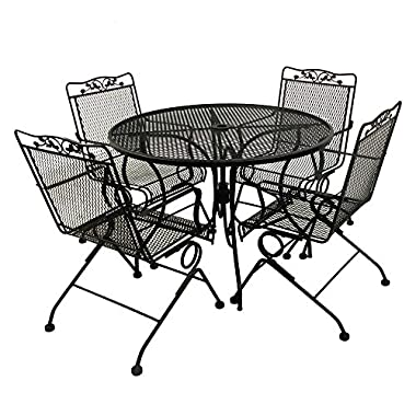 Glenbrook Black 5-Piece Patio Dining Set