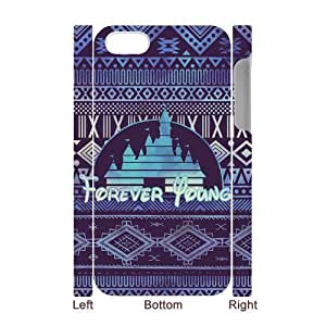 Forever Young Custom 3D Cover Case for Iphone 4,4S,diy phone case ygtg591512