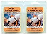 100% All Natural Soy Wax Melt Tarts - Set of 2 - Toasted Marshmallow: A fragrance so true to its name! Imagine a marshmallow on a stick, just slightly toasted by the fire. - 3ozs/ea. - Naturally Strong Scented