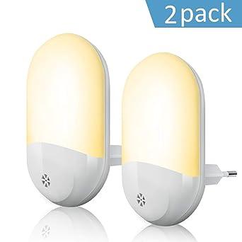 Nachtlicht Steckdose, LED Nachtlicht Baby mit Dämmerungssensor Kinder Licht  steckdosenlampe Automatisch ON/OFF Stromsparendes für ...