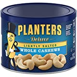 Planters Whole Cashews, Lightly Salted, 8.5 Ounce Canister (Pack of 3)