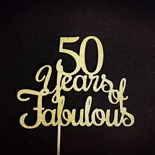 Decoración para tarta de 50 años de fabulosos cumpleaños ...