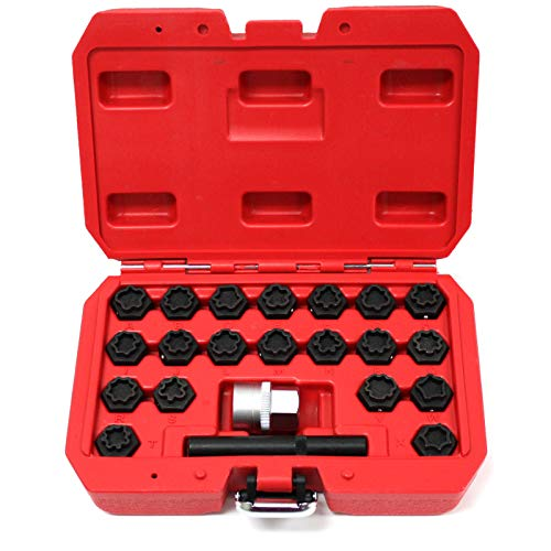 - M2 Outlet 22 Piece Wheel Locking Key Set for Audi Anti-Theft Wheel Rim Lug Nut Master Removal