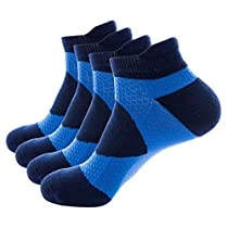 Wantdo Mens Foot Protect Massage Function Outdoor Sports Cushion Socks