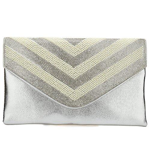 YYW pour Bag silver Evening femme Pochette qPwRarpq
