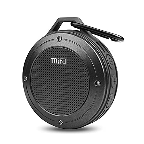 Bluetooth Speaker, MIFA F10 Portable Speaker with Enhanced 3D Stereo Bass Sound, IP56 Dustproof & Waterproof, 10-Hour Playtime, Built-in Mic, Micro SD Card (Ipad 4 Back Housing)