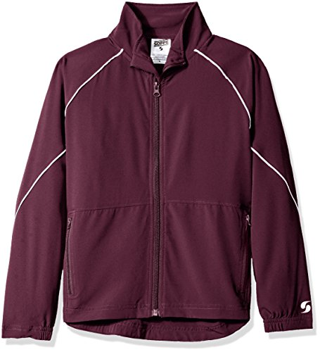 Soffe Big Boys' Yth Warm up Jacket, Maroon, - Youth Warm Up Jacket