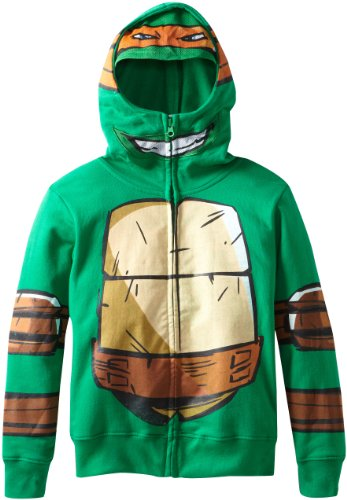 Nickelodeon Little Boys' Ninja Turtles Hoody, Green,
