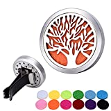 Aromatherapy Essential Oil Diffuser Car Clip 30mm Hollow Life Tree Stainless steel
