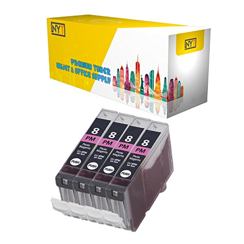 (New York Toner New Compatible 4 Pack CLI-8PM Photo Magenta High Yield Inkjet For - PIXMA:PIXMA iP4200 | PIXMA iP4300 | PIXMA iP4500 | PIXMA iP5200 | PIXMA iP5200R. -- Photo Magenta )