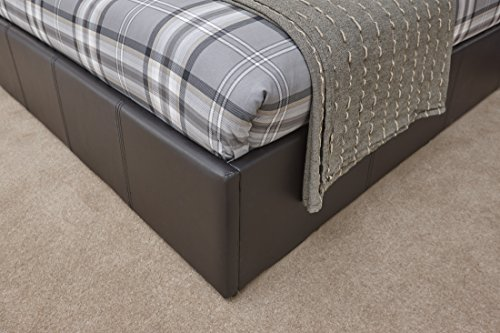 Caspian Ottoman Gas Lift Up Storage Bed Brown 5ft