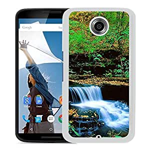 Unique DIY Designed Cover Case For Google Nexus 6 With Small Waterfall Nature Mobile Wallpaper (2) Phone Case
