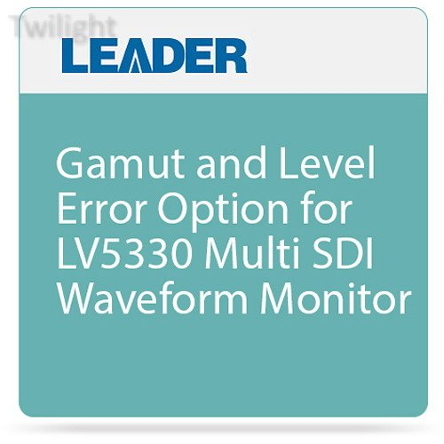 Leader Gamut and Level Error Option for LV5330 Multi SDI Waveform Monitor