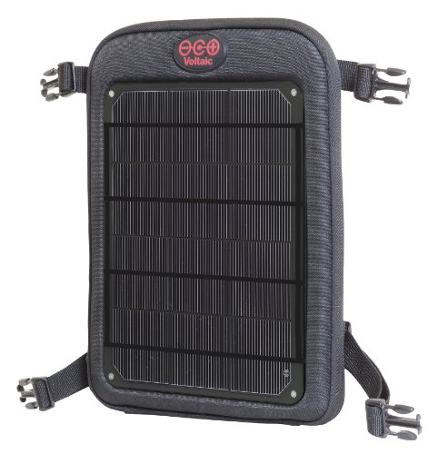 Voltaic Systems - Fuse 6 Watt USB Solar Charger with Backup Battery Pack - Charcoal | Powers Phones, Tablets, DSLR cameras, & More | Charges Your Phone as Fast as at Home | Portable Powered Panel by Voltaic Systems