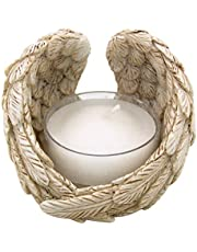 Needzo Guardian Angel Wings Design Tea Light Candle Holder, 2 1/2 Inch, Pack of 2