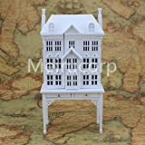Meirucorp Miniatures White DollHouse 1:12 Scale House shape display cabinet 12166