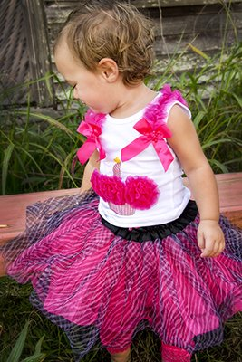 Zebra and Cheetah Tutu - Animal Print Tutus (Hot Pink (Zebra Skort)