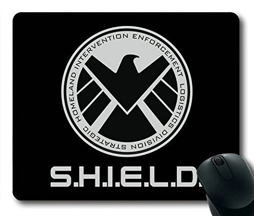 Popular Mouse Pad with agents of shield logo Non-Slip Neoprene Rubber Standard Size 9 Inch(220mm) X 7 Inch(180mm) X 1/8 Inch(3mm) Mousepads - Agents Of Shield Mouse Pad