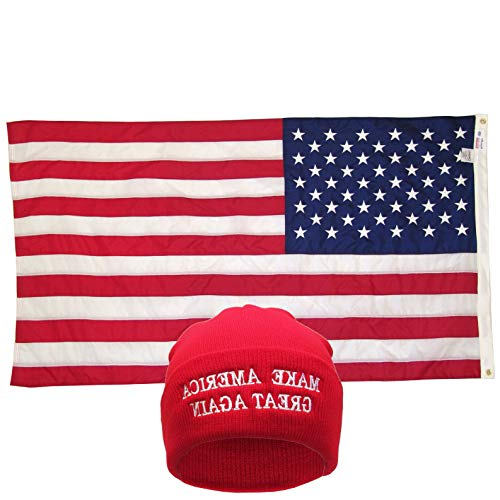 Gatton Red Donald Trump MAGA Beanie 3X5 U.S.A Flag | Model FLG - ()