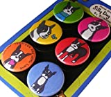 Boston Terrier Silly Dog Magnet Set of 6