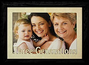 5x7 jumbo three generations landscape black solid oak picture frame laser cream marble mat