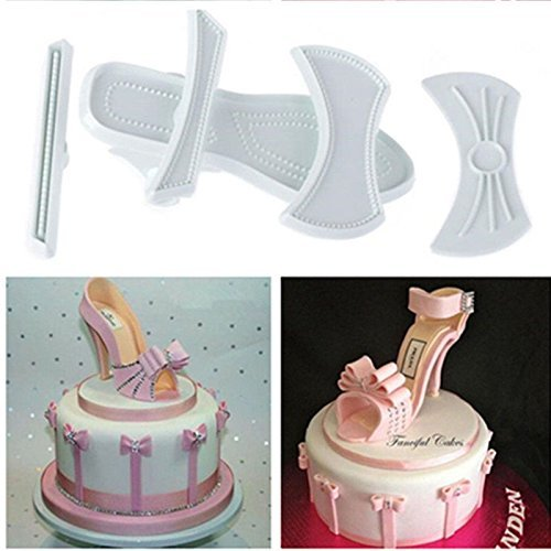 - Liangxiang 9 Pcs High Heels Shoes Cake Cutter Mold Craft Fondant Baking Mould (2 Set)
