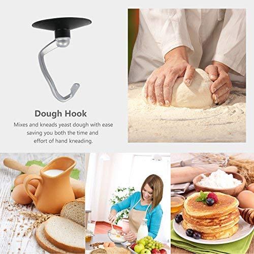 Hornbill Tilt-head Stand Mixer, Electric Mixer 600W 6-Speed 5-Quart Stainless Steel Bowl Professional Kitchen Mixer With Dough Hook, Whisk, Beater(Black)