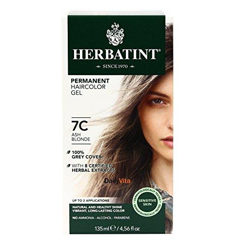- Permanent Herbal Haircolor Gel 7C Ash Blonde 1 Box