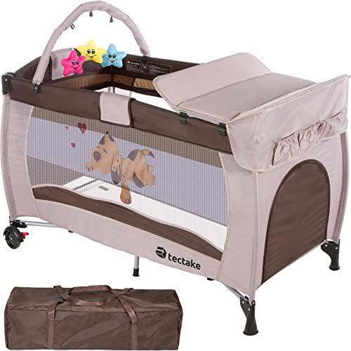 TecTake Cuna infantil de viaje de altura ajustable con acolchado para bebé - disponible en diferentes colores - (Coffee | 400466): Amazon.es: Hogar
