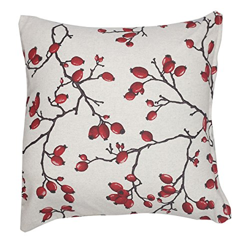 Caught Ya Lookin' S248-LinenBerry Pillow Cover, Red by Caught Ya Lookin'