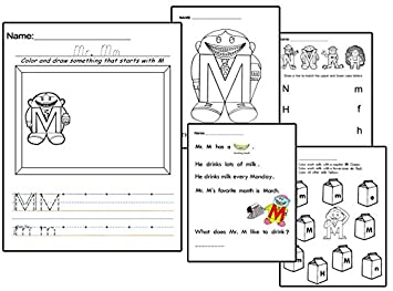 Amazon.com : Letter People Worksheets Vol. 2 Reading Writing ...