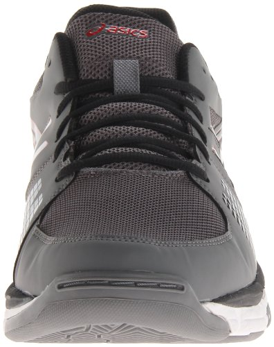 Asics - Zapatillas de voleibol para hombre gris/negro/rojo