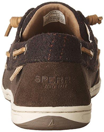 Sperry Wool Brown Brown Songfish Boat Women's Suede Dark Shoes wrtrZ