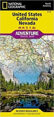 United States, California And Nevada Adventure Map National ...