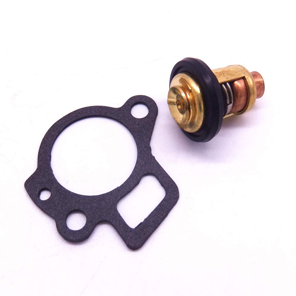 Boat Engine Thermostat 825212 825212001 855676003 825212T02 855676A1 and Gasket 27-824853 824853 for Mercury 8HP 9.9HP 15HP 25HP 30HP 40HP 4-Stroke Outboard Motor