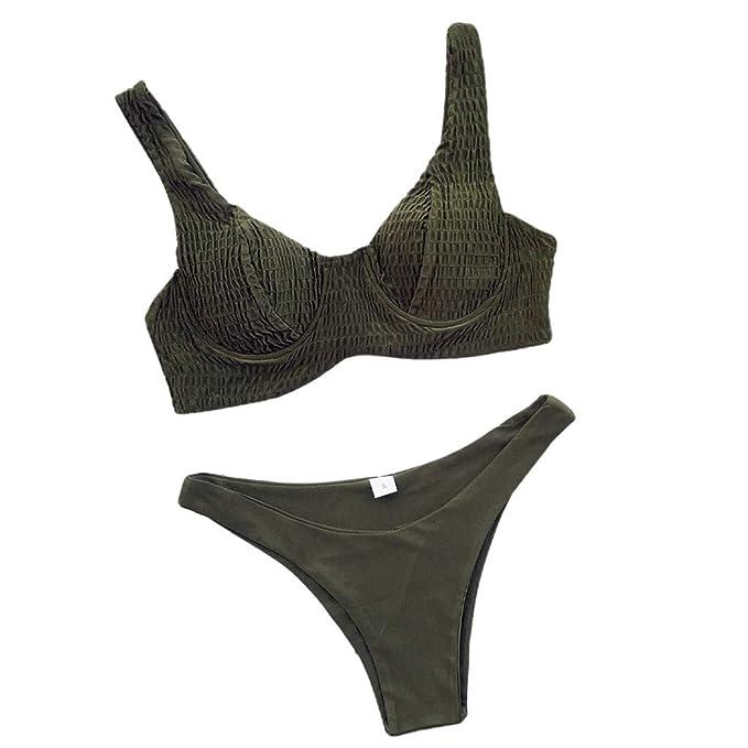 Tankini Trajes de baño para Mujeres Bikini Traje de baño de Dos Piezas Pushups Sujetador Relleno Ropa de Playa Liquidación: Amazon.es: Ropa y accesorios