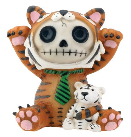 Gifts Lion Mountain Gorgeous (Brown Tigrrr with Small Tiger Furry Bones Collectible Statue)