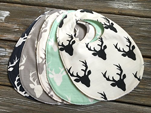 Bib/Burp Cloth Combo/Gift Set ~ Nature//Outdoors//Buck//Forest//Antlers//Gender Neutral//Hunting Chenille Bib Burp Cloth