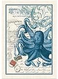 Michel Design Works Octopus Cotton Kitchen Towel, Blue/White