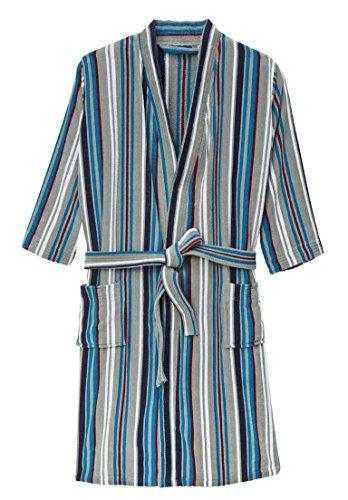 KingSize Men's Big & Tall Terry Velour Kimono Robe, Heather Charcoal (Loop Terry Robe)