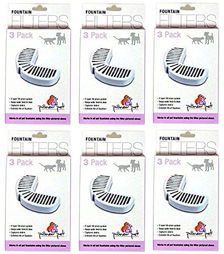 PIONEER PET REPLACEMENT FILTERS 3-PER PACK, (6 PACKS, 18 FILTERS) by Pioneer Pet