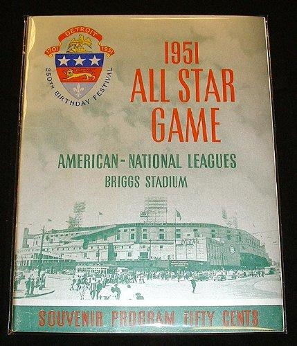 1951-All-Star-Program-Briggs-Stadium-Detroit-Tigers-Near-Mint