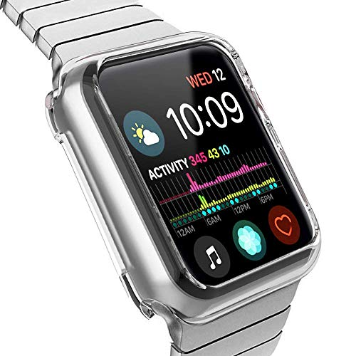 Compatible with Apple Watch Case Series 4, HONEJEEN Soft TPU Replacement for iWatch Case and Protector Cover Series 4 (44mm Clear)